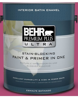 BEHR ULTRA 1 gal. #P120-6 Diva Glam Satin Enamel Interior Paint and Primer in One