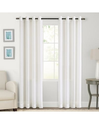 SONOMA Goods for Life™ 1-Panel Crushed Voile Grommet Window Curtain, Lt Beige