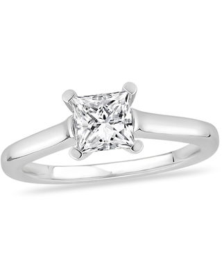 Jared Diamond Solitaire Engagement Ring 1 ct tw Princess-cut 14K White Gold