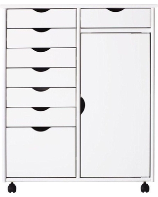 White 8-Drawer Double Wide Storage Cart  sc 1 st  Better Homes and Gardens & Summer Shopping Special: Stanton 29 in. White 8-Drawer Double Wide ...