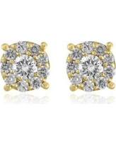 Effy Yellow Gold 1/2 ct. t.w. Diamond Cluster Earrings in 14K Yellow Gold