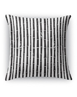 BAMBOO BLACK Accent Pillow By Kavka Designs (Accent - Black - 16 x 16)