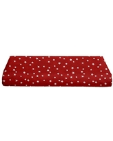 """BKB Cradle Sheet, Lucky Stars Red, 15"""" x 33"""""""