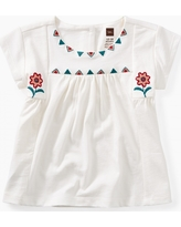 Tea Collection Floral Embroidered Top