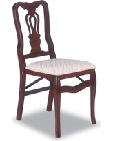 2 Piece Queen Anne Folding Chair Cherry - Stakmore
