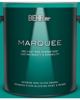 BEHR MARQUEE 1 gal. #490B-6 Emerald Coast Semi-Gloss Enamel Interior Paint and Primer in One