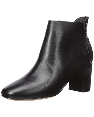 Cole Haan Women's Nella Bootie (65MM) Ankle Boot, Black Leather, 5.5 B US