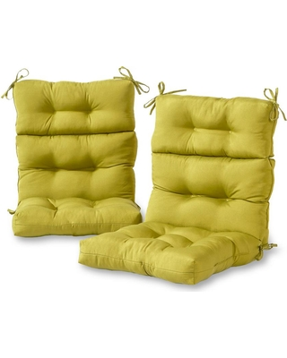 Enjoyable Greendale Home Fashions Greendale Home Fashions Solid Kiwi Outdoor High Back Dining Chair Cushion 2 Pack From Home Depot People Download Free Architecture Designs Ogrambritishbridgeorg