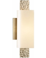"Hubbardton Forge Oceanus 12 1/2""H Soft Gold Wall Sconce"