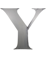 """13"""" Hand Painted 3D Wall Sculpture Letter Y Nickel - Letter2Word"""