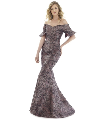 Feriani Couture - 20114 Off Shoulder Mermaid Dress With Train