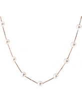 14K Rose Gold and 8MM Freshwater Pearl Necklace