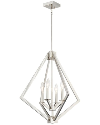 Rockies Containers 4-Light Nickel Candle-Style Chandelier