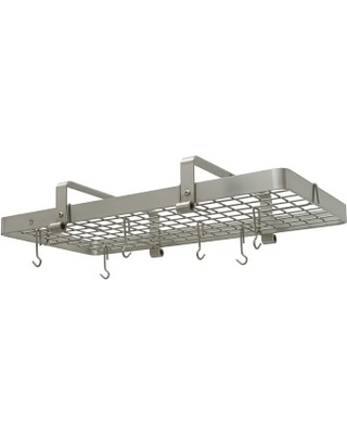 Enclume Low Ceiling Rectangular Pot Rack Stainless Steel