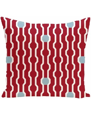 """Simply Daisy 16"""" x 16"""" Nuts and Bolts Decorative Holiday Geometric Print Pillow"""