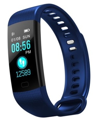 Smart Watch Unisex Best Slim Easy Fitness Tracker Heart Rate Monitor,Gym Sports Tracker Watch, Pedometer Watch with Sleep Monitor, Step Tracker(BLUE)