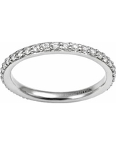 Sophie Miller Sterling Silver Cubic Zirconia Eternity Ring, Women's, Size: 8, White