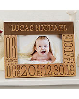 Birth thru 12th Grade or Newborn to 18 12x16 Personalized School Years Picture Frame