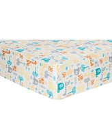 Trend Lab Deluxe Flannel Fitted Crib Sheet - Lullaby Zoo