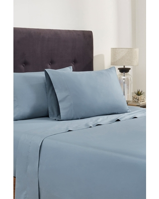 MODERN THREADS Italian Hotel Collection 400 Thread Count 100% Cotton Sheet Set - Blue - King at Nordstrom Rack