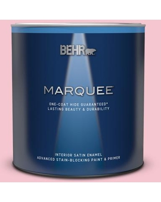 BEHR MARQUEE 1 qt. #120B-4 Old Fashioned Pink Satin Enamel Interior Paint & Primer