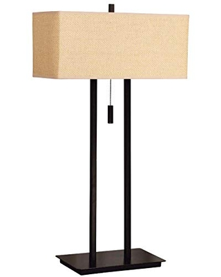 Kenroy Home Kenroy 30816BRZ Contemporary Modern Two Light Table Lamp from Emilio collection in Bronze/Dark finish, 16.00 inches