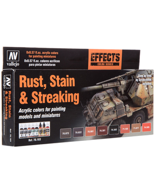 Rust, Stain & Streaking Effects Color Series Model Airbrush Acrylic Paints