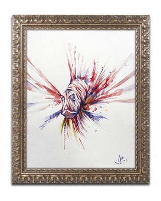 Trademark Fine Art 'Pterois' Canvas Art by Marc Allante, Gold Ornate Frame