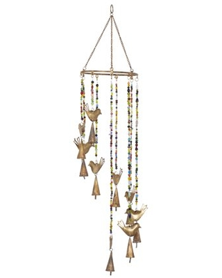 """DecMode 26"""" Gold Metal Eclectic Windchime"""