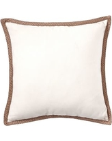 "Synthetic Trim Indoor/Outdoor Pillow, 20"", Natural"