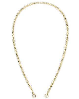 Jared The Galleria Of Jewelry Hollow Rolo Chain Necklace 14K Yellow Gold