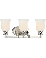 """Audrey's Point 22 1/4"""" Wide Polished Nickel Bath Light"""