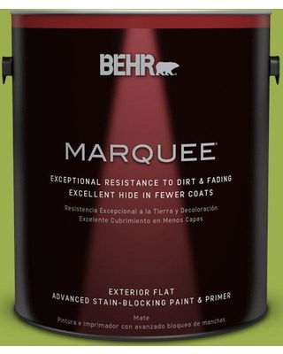 BEHR MARQUEE 1 gal. #PPU10-05 Intoxication Flat Exterior Paint and Primer in One