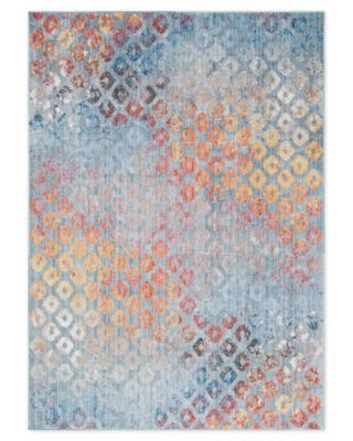 Unique Loom Rainbow Spectral 7' X 10' Area Rug In Blue
