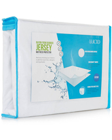 LUCID Premium Rayon from Bamboo Jersey Mattress Protector, One Size , White
