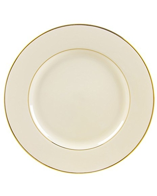 """10 Strawberry Street Cream Double Gold Line 12.25"""" Charger/Buffet Plate, Set of 6, Cream/Gold"""
