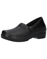 Easy Works By Easy Street Womens Laurie Round Toe Slip-On Shoe, 7 Extra Wide, Black