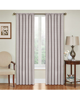 Eclipse Kids Microfiber Energy Saving Blackout Rod-Pocket Single Curtain Panel, One Size , Gray