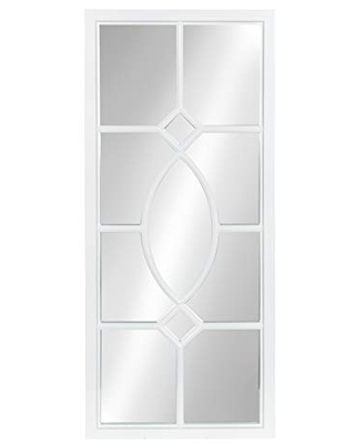 Kate and Laurel Cassat Casual Modern Window Wall Accent Mirror, White