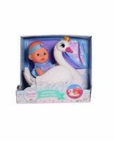 """Dream Collection 10"""" Pretend Play Bath Time Baby Doll With Swan Float - Multi"""