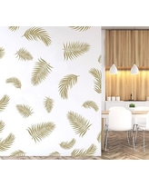 Palm Fronds Wall Decal, Gold