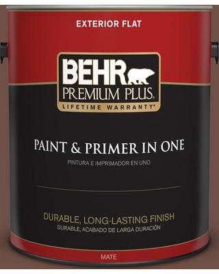 BEHR Premium Plus 1 gal. #PPU3-19 Moroccan Henna Flat Exterior Paint and Primer in One