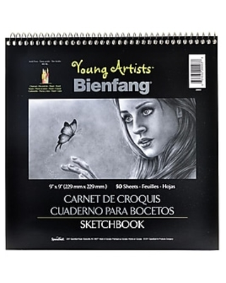 Bienfang Young Artists Sketchbooks 9 In. X 9 In. 50 Sheets [Pack Of 6] (6PK-220003),Size: med