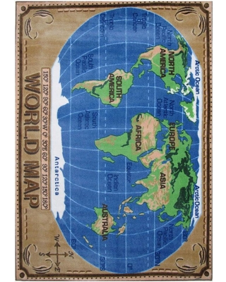 Amazing deal supreme world map multi colored 3 ft x 4 ft area rug supreme world map multi colored 3 ft x 4 ft area rug gumiabroncs Gallery