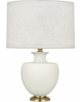 Michael Berman Atlas Brass and Lily Ceramic Table Lamp