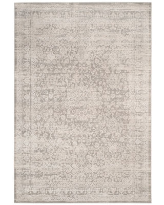 Gray/Beige Floral Loomed Area Rug 9'X12' - Safavieh