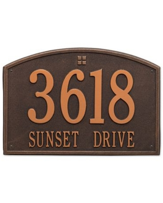 Whitehall Products 2-Line Personalized Address Wall Plaque In Oil Rubbed Bronze