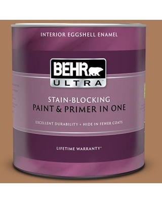 BEHR ULTRA 1 qt. #S230-6 Burnt Toffee Eggshell Enamel Interior Paint and Primer in One