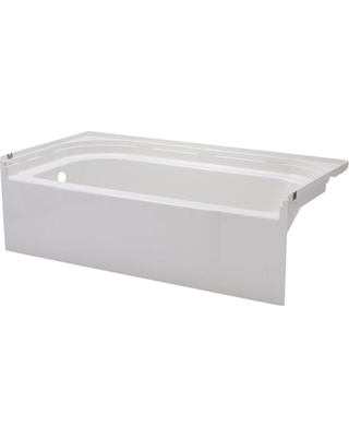 STERLING Accord 5 ft. Left Drain Rectangular Alcove Soaking Tub in White