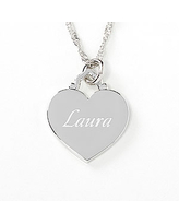 Personalized Sterling Silver Heart Necklace